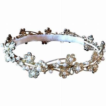 Tiara Rhinestone Pearl Crown Judi Beauties