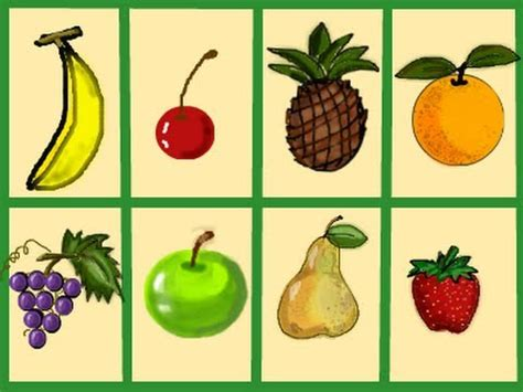 Learn English  Fruit (flash Cards) Youtube