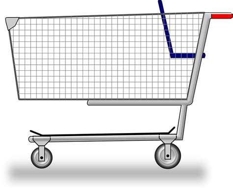 Shopping Cart Clipart Cart Groceries Shopping 183 Free Vector Graphic On Pixabay