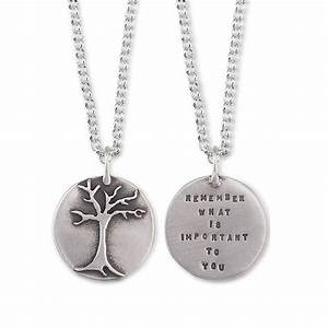 Remember What is Important To You Necklace Quote Jewelry