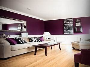 Indoor : Wall Eggplant Color Scheme Anf Family Room
