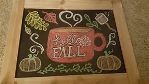 17 Best ideas about Fall Chalkboard Art on Pinterest