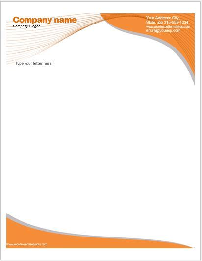 letter heading exle business letterhead templates for ms word word excel 32533