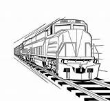 Train Coloring Locomotive Pages Diesel Steam Trains Template Sketch Colorluna sketch template