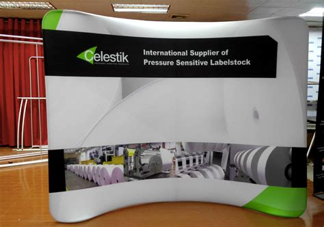 tension fabric displays waveline  trade shows