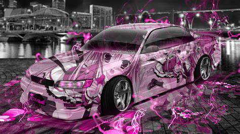toyota mark jzx jdm tuning anime aerography city car