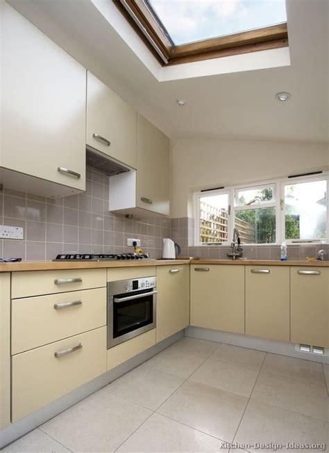 pictures  kitchens modern beige kitchen cabinets