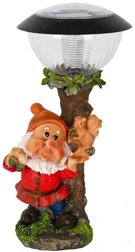 solar powered led garden gnome goblin ornament