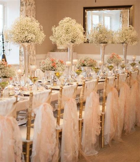 wedding tables and chairs romantique wedding reception decorations baby 39 s breath