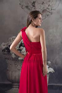 Sage Green Color Chart Red One Shoulder Chiffon Prom Gown Evening Formal Dresses