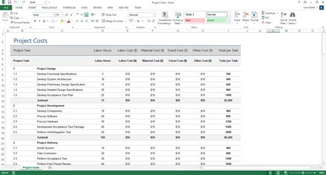 project plan templates  page ms word  excel