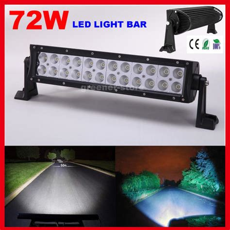 neon led lights 14inch 72w cree led light bar flood
