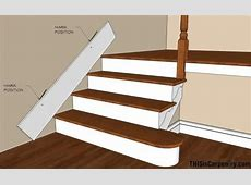 Scribing skirt boards at the edge of stairs Fix for the