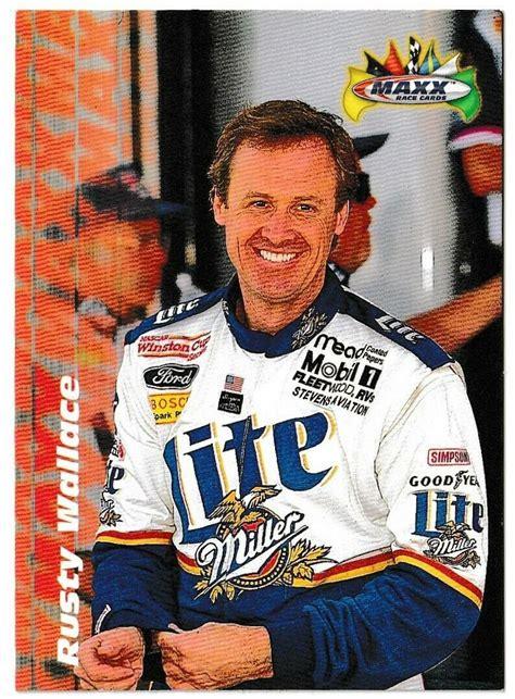 2021 donruss racing nascar base / inserts RUSTY WALLACE Stats Trading Card © 1997 NASCAR
