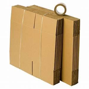 Cartons De Déménagement Gratuit : kit d m nagement 20 cartons livres avec 1 rouleau d ~ Melissatoandfro.com Idées de Décoration