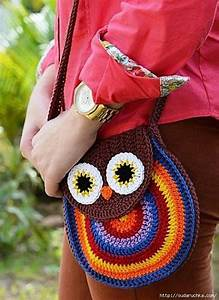 Ergahandmade  Crochet Owl Bag Purse   Diagrams