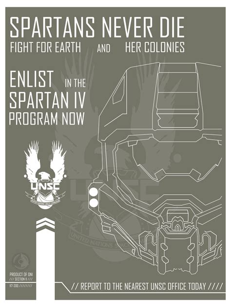Halo Spartan Iv Recruitment Poster By Open Circle
