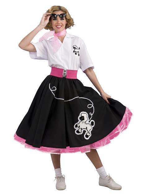 womens  black poodle skirt fancy dress costume ebay