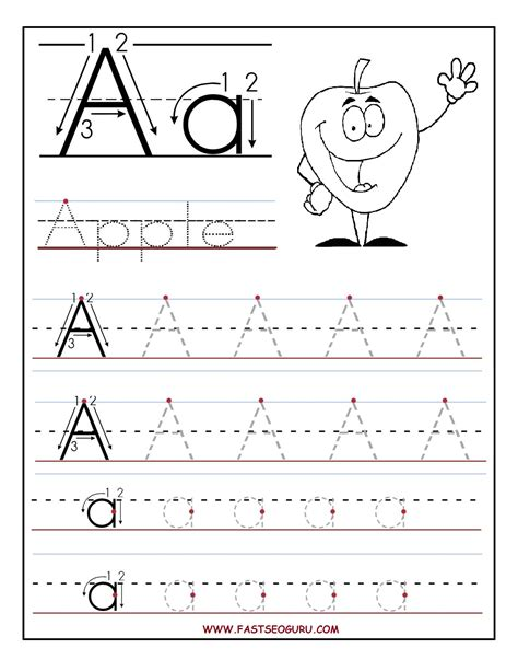 Tracing Worksheets For Kindergarten  New Calendar Template Site