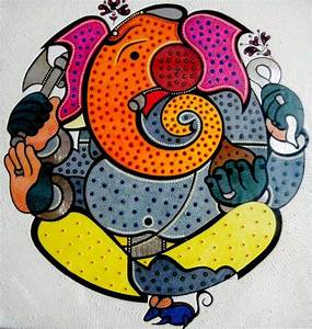 Modern Art Omkara Ganpati Ganesha Painting Collection