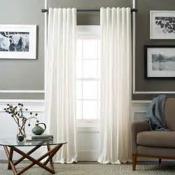 west elm curtains velvet pole pocket curtain ivory west elm