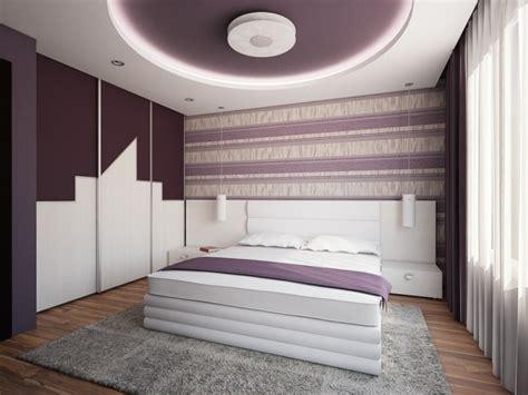 design des chambres à coucher faux plafond moderne dans la chambre à coucher et le salon