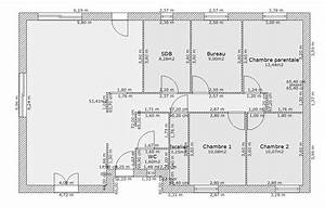 plan maison plain pied s sol 105 m2 18 messages With ordinary creer plan maison 3d 10 plan maison rectangle 4 chambres