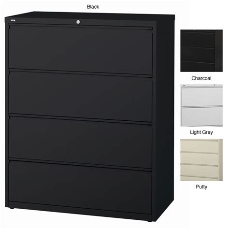 hirsh soho 2 drawer lateral file cabinet in black hirsh hl10000 series 42 inch wide 4 drawer commercial