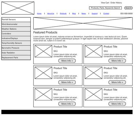 wireframe template wireframe exle