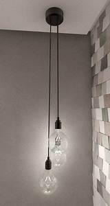 Lampe Langer Flur : hanging bulb pendant light 3d max flur pinterest ~ Michelbontemps.com Haus und Dekorationen