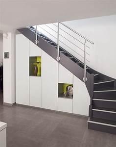 Placard Sous Pente Lapeyre : placard sous escalier sur mesure paris nantes vannes lorient meuble sous escalier chambre ~ Nature-et-papiers.com Idées de Décoration