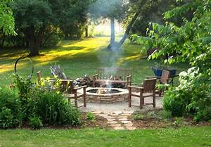 Fire Pit DIY - Rustic - Landscape - milwaukee - by Erin