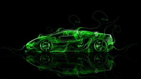 lamborghini gallardo side fire abstract car  el tony