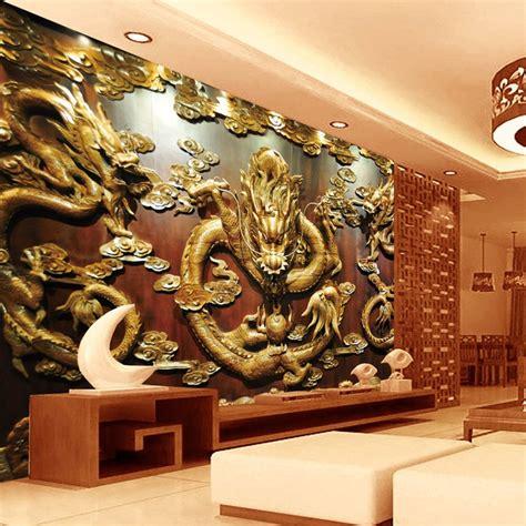custom  wallpaper wood carving dragon photo wallpaper
