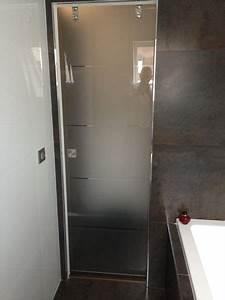 salle de bain pose porte coulissante en verre de douche With porte de douche vitrée