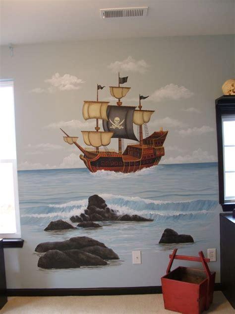 Kinderzimmer Wandgestaltung Pirat by Pirate Mural Kid S Room Room Murals Pirate