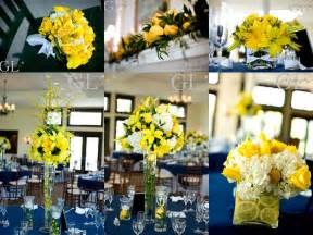 navy  yellow wedding decorations yellow wedding