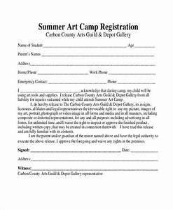 Great Camp Registration Form Template Photos # Free Camp ...