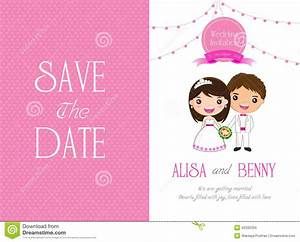 wedding invitation template card cartoon stock vector With wedding invitation animation template