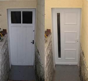 remplacement d une porte de garage par une autre en bois With porte de garage enroulable avec porte de service pvc occasion