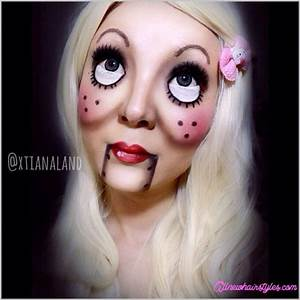Halloween Make Up Puppe : scary doll makeup ideas ~ Frokenaadalensverden.com Haus und Dekorationen