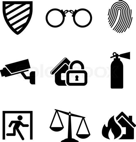sicherheit und gefahrenabwehr symbole vektorgrafik colourbox