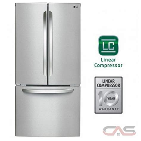 lg lfcst french door refrigerator  width optional ice maker special order energy