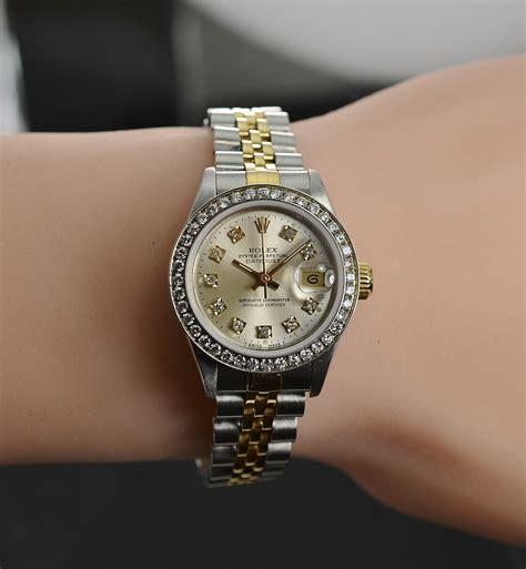 Rolex 26mm Datejust 18K/SS Watch Diamond Bezel & Dial Ref ...
