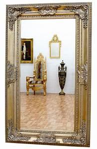 Miroir Cadre Bois : miroir baroque cadre en bois argent 156x95 cm miroirs baroque classic stores ~ Teatrodelosmanantiales.com Idées de Décoration