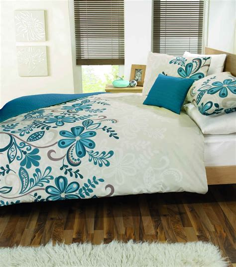Teal Bed by Rosso Duvet Cover Teal
