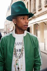 Pharrell's hat also comes in green|Lainey Gossip ...