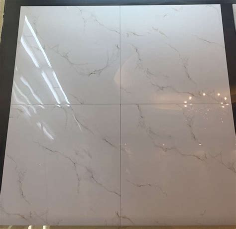 carrara white porcelain tile 24x24 polished glazed tile