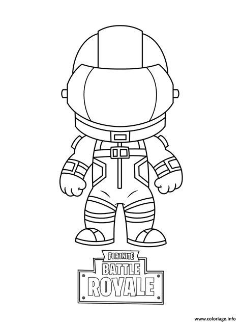 coloriage mini fortnite dark vanguard dessin