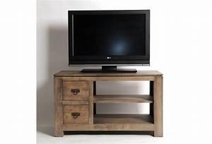 meuble tv hevea massif gris 2 tiroirs With wonderful meuble en manguier massif 5 meuble tv en bois exotique gris